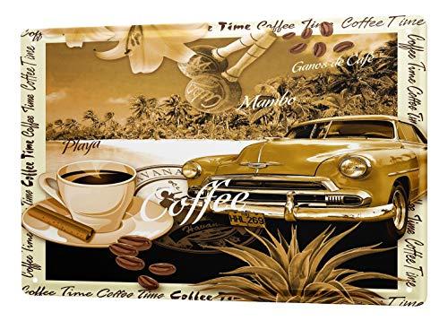 LEotiE SINCE 2004 Blechschild Welt Reise Kuba Oldtimer Strand Kaffee Wand Deko Schild 20x30 cm Vintage Retro Wanddekoration