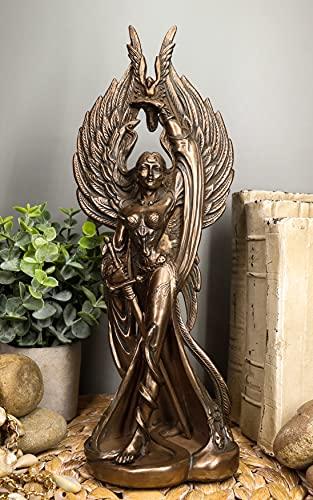 Ebros Irish Celtic War Goddess Morrigan Statue 12.25' Tall Mythical Phantom Queen Figurine Valkyrie Battle Pose Bronze Resin Decor Sculpture