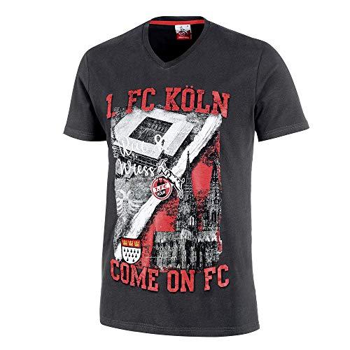 "1. FC Köln Herren T- Shirt ""Rockenhauser STR."" Gr. L"