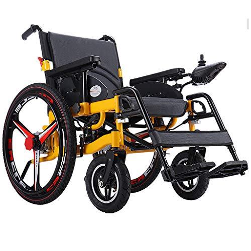 JCX Leichtgewichtiger Rollstuhl, elektrischer Rollstuhl zum Öffnen/Zusammenklappen in 1 Sekunde Leichtester, kompaktester Elektrorollstuhlantrieb oder manuelle 12A / 20A Lithiumbatterie