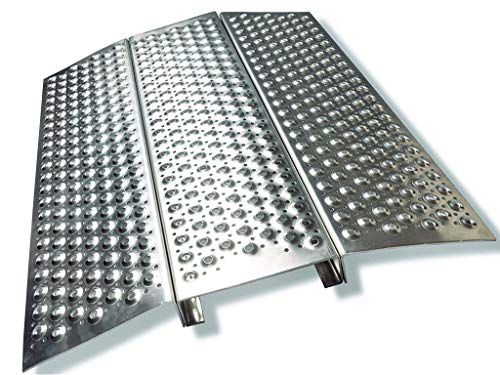 Rampe für Rollstuhl/Rollstuhlrampen Aluminium Länge/Höhe 50 mm. / Größe 600 x 700
