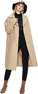 Grneric Windbreaker Femminile Soprabito atmosferico di Alto Livello Britannico Cappotto Lungo Ginocchio delle Donne