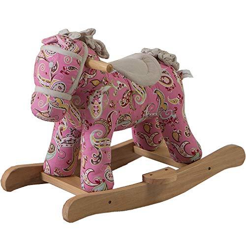 BAMBINETO Caballito Montable Rosa Mecedora Rocking   El Juguete Perfecto para Decorar la habitación de tu bebé niño o Cuarto de Juegos.