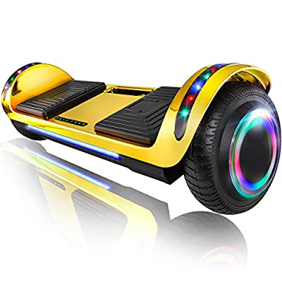 "XPRIT 6.5"" Hoverboard Self-Balance Two Wheel w/Built-in Wireless Speaker (Chrome Gold)"