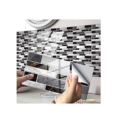 Pegatinas para azulejos, pegatinas de azulejos de cristal, decoración adhesiva, adhesivo para piso, adecuado para sala de estar, cocina, baño, etc