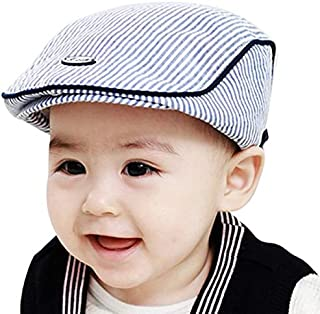 7d475f39cef Cinnamou Sombreros y Gorras para bebés niña Niñas Niños a Rayas Boina Gorro  de Béisbol