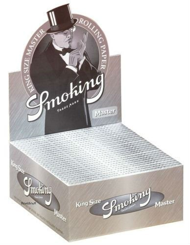 Smoking MASTER 1 Box King Size Papers 50 x 33 Blättchen Silver Long Papers Original®