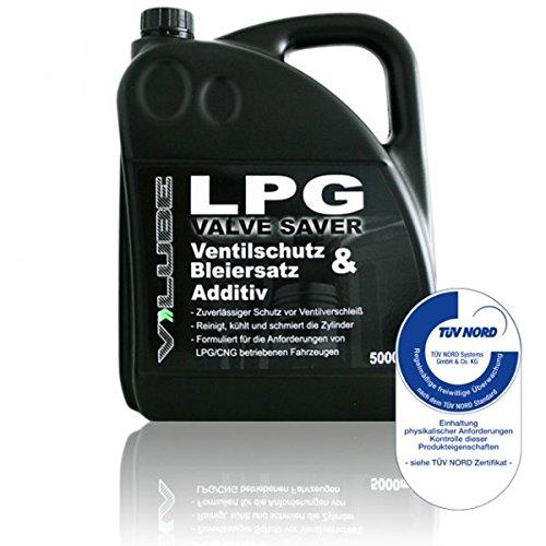 V-Lube Valve Saver - 5 litros - Aditivo de protección de válvulas para vehículos a Gas (GLP, GLP, Gas Natural) TÜV - Calidad controlada - Eficacia confirmada - Made in Germany