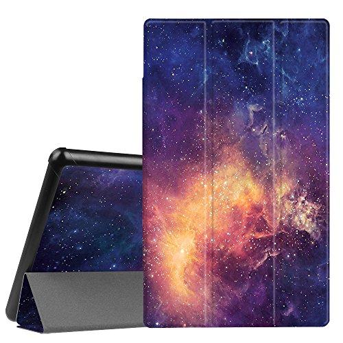 Fintie Hülle kompatibel mit Amazon Fire HD 10 Tablet (9. & 7. Generation - 2019 & 2017) - Slim Cover Lightweight Schutzhülle Tasche mit Standfunktion & Auto Schlaf/Wach Funktion, Galaxie