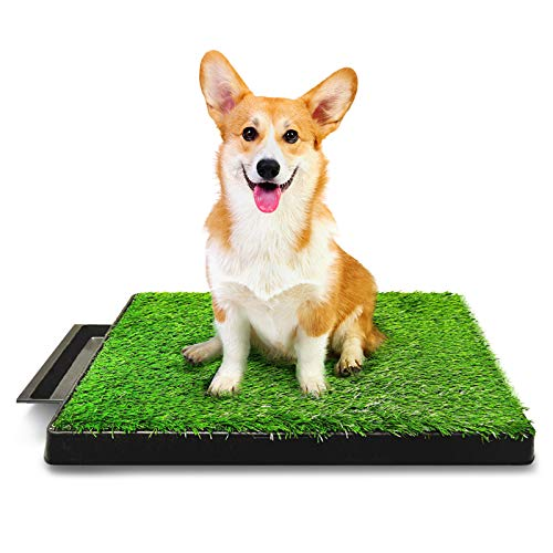 Hompet Dog Toilet Indoor Puppy Training Pad, Dog Potty Pet Training Grass...