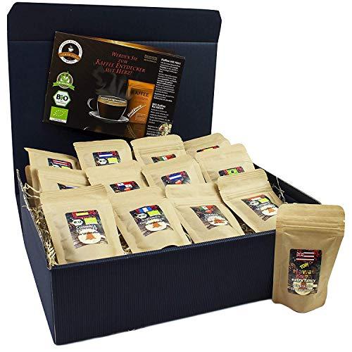 C&T Kaffee-Set Bio/Fair 13 Sorten á 25 g (Ganze Bohnen) 2019 mit 13 Biologischen, Raritäten- und Fair gehandelten Kaffees plus Überraschung