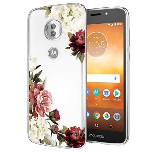 Moto E5 Play Case, Moto E5 Cruise Phone Case with Flowers, Sophmy Slim Shockproof Clear Floral Pattern Soft Flexible TPU Back Phone Cove for Motorola Moto E5 Play (Blossom Flower)