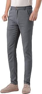 Men's Skinny Stretchy Khaki Pants Colored Pants Slim Fit Slacks Tapered Trousers