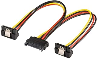 Goobay 95115 PC Y Stromkabel / Stromadapter / SATA Splitter; SATA 1x Buchse zu 2x Stecker 2x SATA Standard Stecker > SATA Standard Buchse