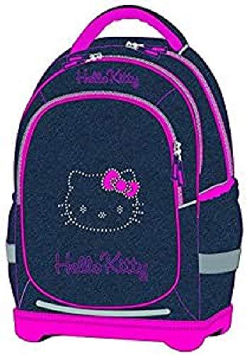 Hello Kitty - Mochila corazón Azul Jeans/Rosa