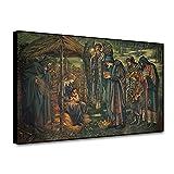 Pintura decorativa Pintura de Burne Jones, la estrella de Belén, pintura clásica en lienzo, póster Vintage, cuadro artístico para pared, decoración del hogar, decoración de la habitación 50x75cm