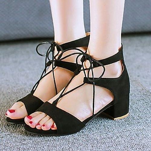 Zormey Chaussures Femmes De Velvet Talon Plateforme Open Toe Talons Dress noir marron Bourgogne Nous Noir6.5-7   Eu37   Uk4 5-5   Cn37