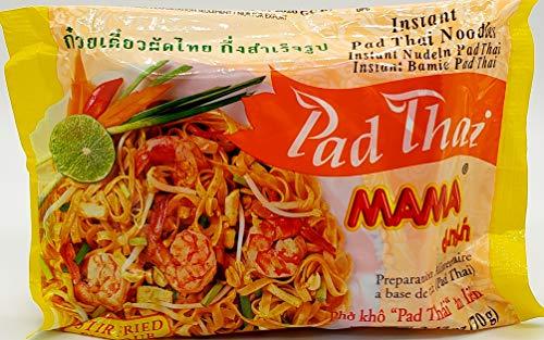MAMA Noodles Pad Thai Instant Spicy Noodles w/ Delicious Thai Flavors, Hot & Spicy Noodles w/ Pad Thai Soup Base, No Trans Fat w/ Fewer Calories Than Deep Fried Noodles 10 Pack