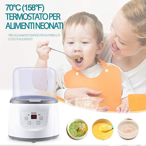 Baby Bottle Warmer Flaschenwärmer Flaschen Sterilisator 4 -in -1 Intelligenter Flaschenwärmer und Baby-Lebensmittel-Heizungsgerät für Muttermilch oder Babymilchpulver mit LCD-Echtzeit Anzeige Schnelle Erwärmung und genaue Temperaturkontrolle - 5