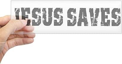 CafePress Jesus Saves Bk Bumper Sticker 10
