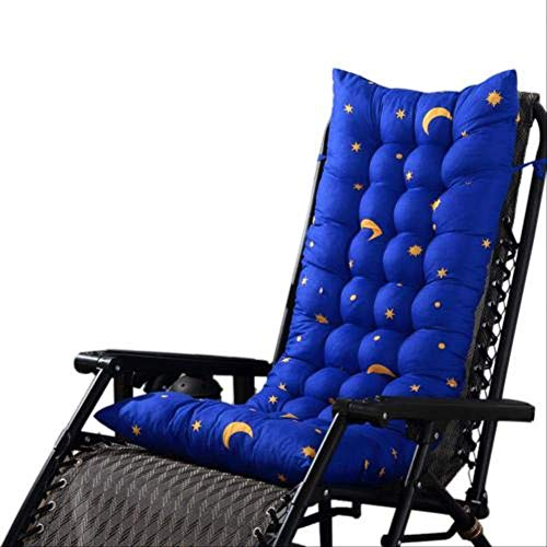 LEELFD Solid Color Garden Rocking Deck Chair Cushion Outdoor Pool Thick Sun Seat Pad Cushions Home Decor Coussin 48x125cm Sapphire Blue