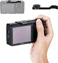 JJC Metal Thumbs Up Grip for Ricoh GR II GRII GR2 with Hot Shoe Cover Protector Made of Aluminum Alloy Not Interfere with Controls of Camera