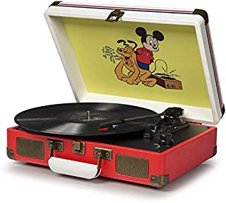 Crosley CR8005A-DS Cruiser Vintage 3-Speed Suitcase Turntable, Disney