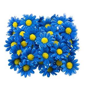 Mlian – Flores de margarita, 100 unidades de flores artificiales para decoración de Pascua, bodas, fiestas
