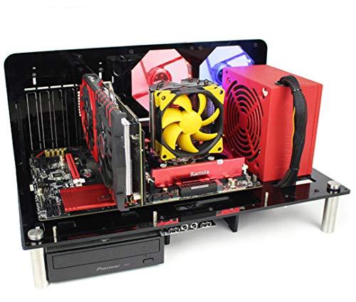 【BWH】PCオープンフレーム 透明 モッドベーススタンド PCケース DIY ケースブラケット ATX (タイプⅢ)