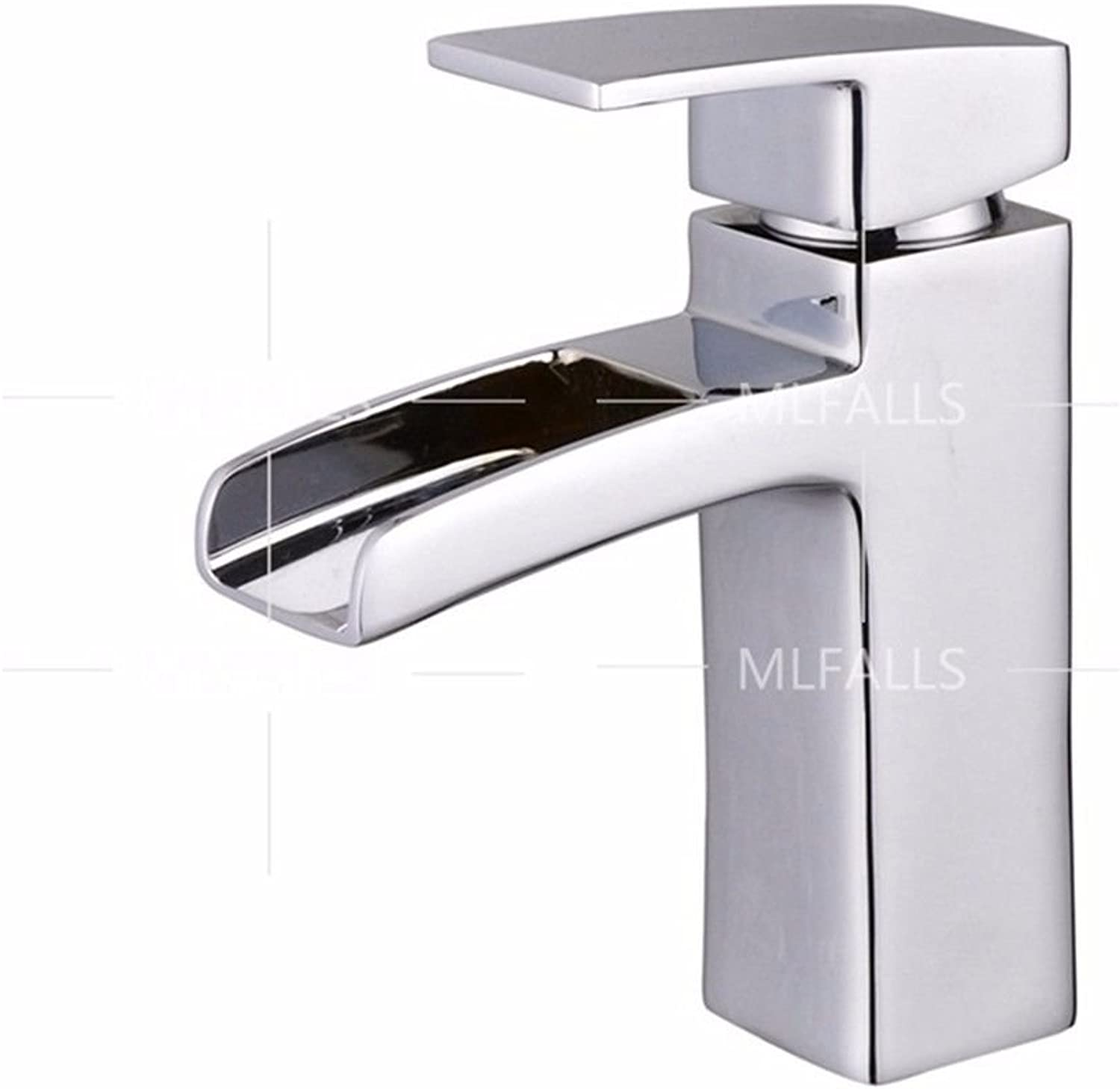 Hlluya Professional Sink Mixer Tap Kitchen Faucet Modern chrome plated brass, zinc alloy single handle waterfall water outlet basin Faucet