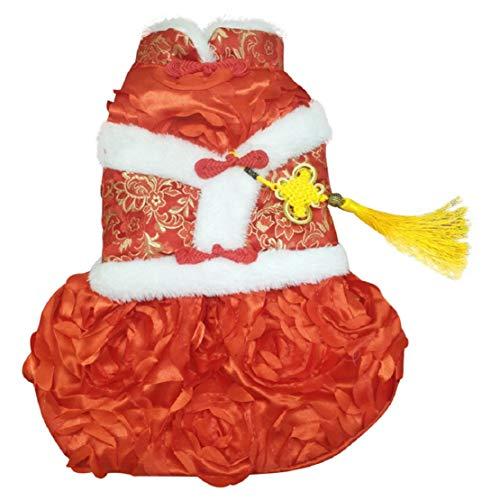 Bluelucon kat warme mantel jurk winter Chihuahua Pet Tang kostuum leuke Chinese hondenpartyjurk hondenkostuum huisdierjurk