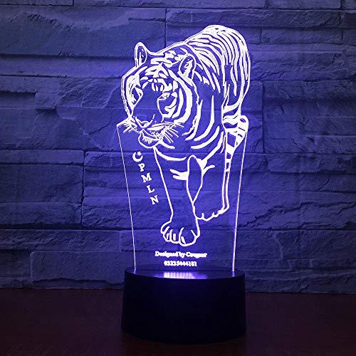 ZSSYD 16 Colores 3D Lámpara Óptico Illusions Luz Nocturna, Escultura