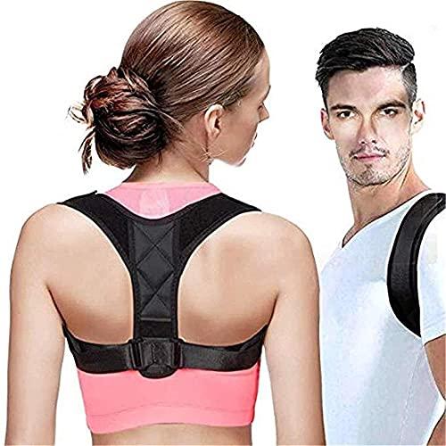 NaoSIn-Ni Cinturón de apoyo ajustable – Corrector de postura de espalda, clavícula, espalda, hombro, corrección de postura lumbar, soporte de espalda seguro para mujeres y hombres – mediano