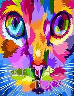 Sketch Book: Cute Cat Eyes 8.5