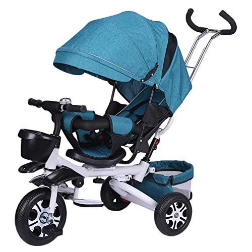 Best Deals! Zjnhl Children's Fun/Children Kids Tricycle Trike Stroller First Bike 4 In1 Foldable WiR...