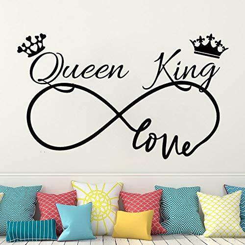 Ajcwhml Wall Decals Infinite Love Couple Decal Wedding Master Bedroom decoration Romantic bedroom Vinyl Wall Sticker home decor 79x49cm