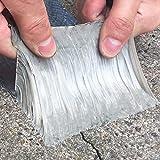 Aluminum Wasserdichtes Butyl Klebeband, Butyl Klebeband 50mm x 5M Alufolie Klebebend Dickes Dichtungsband Reperaturband zum Abdichten Dachlecks Rohr Loch (1.5mm*5cm*5m)