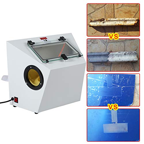 Polijstmachine Sieradenpolijstmachine Sieradenzandstraalmachine Draagbare zandstraalmachine voor alle soorten metaal/glas/jade/plexiglas etc. (EU-stekker)