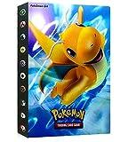 LSST Album Compatible with Pokemon GX EX Mega Cards, Binder Compatible with Pokemon Cards, Protector Sleeves Compatible with Pokemon Cards, Album Binder Compatible with Pokemon (Dragonite)