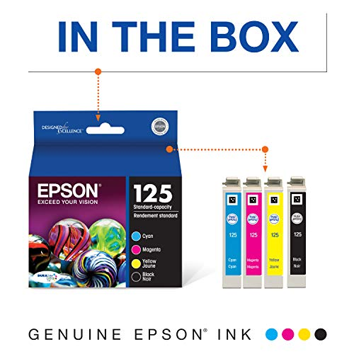 Epson T125120-BCS DURABrite Ultra Black and Color Combo Pack Standard Capacity Cartridge Ink Photo #6