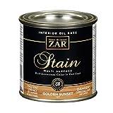 ZAR 12706, 1/2 PT, Oak, Interior Wood Stain, 1/2PT, Golden Sunset