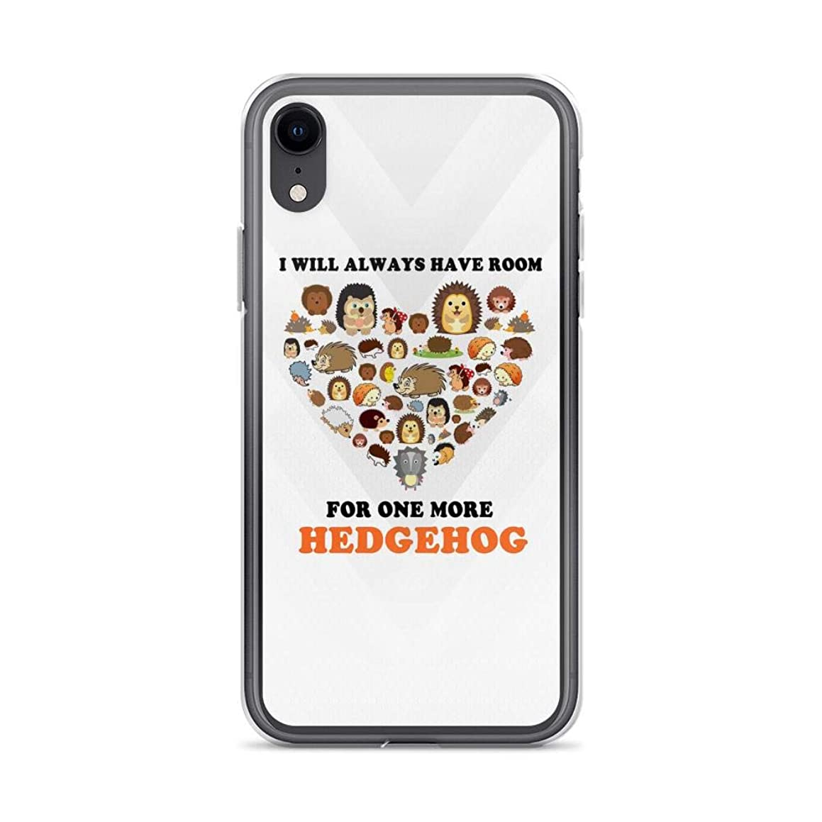 iPhone XR Pure Clear Case Cases Cover I'll Always Have Room for One More Hedgehog Cute Aninals
