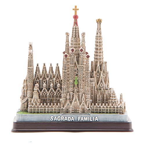 Maqueta Barcelona Sagrada Família de Resina Pintada a Mano.