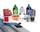 Docktail Butler Marine Food and Cocktail Table - Includes Adjustable Folding Rod Holder Mount -...