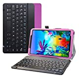 Bige for LG G Pad 5 10.1 Keyboard Case,Slim Stand PU Leather Cover with Romovable Wireless Keyboard for 10.1' LG G Pad 5 10.1 T600 Tablet(2019),Purple
