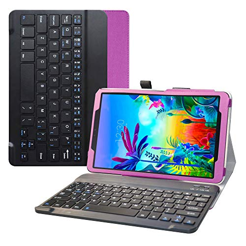 Bige for LG G Pad 5 10.1 Keyboard Case,Slim Stand PU Leather Cover with Romovable Wireless Keyboard for 10.1