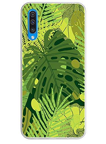 Oihxse Mode Transparent Silicone Case Compatible pour Samsung Galaxy Note 4 Coque, Ultra Mince Souple TPU Mignon Animal Série Protection de Housse Anti-Scrach Bumper Etui -Feuilles