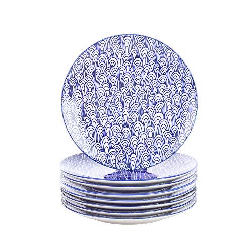 Vancasso, série Takaki, assiette à dessert, 8 pièces, en porcelaine, style japonais