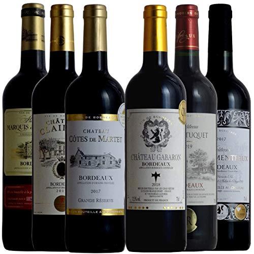 全て金賞受賞 ボルドー飲み比べ ソムリエ厳選ワインセット 赤ワイン 750ml 6本