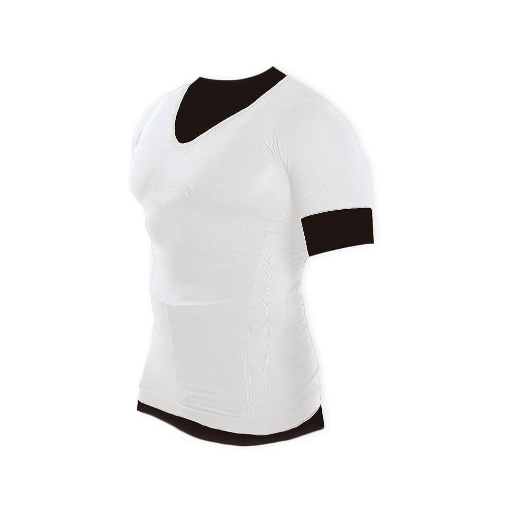 バンジョー予防接種する結婚マッスルプロジェクト 加圧インナーシャツ Vネック ホワイト MP-MSWHV M